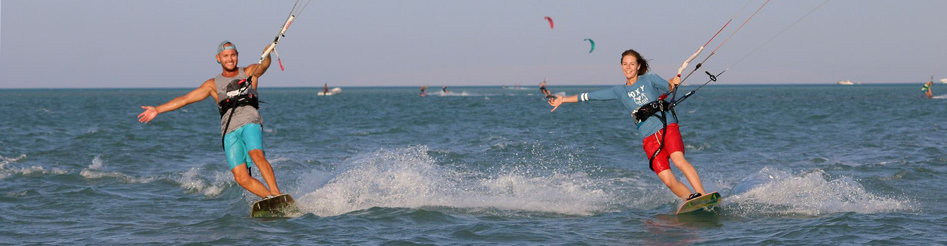 Gogo, and Martina - The Owners of Nomad Kite Events; a professional Kitesurfing school based in El Gouna, Egypt.