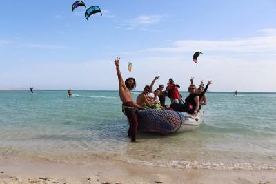 Picture from NKE's kite surfing safari Noveber 2018
