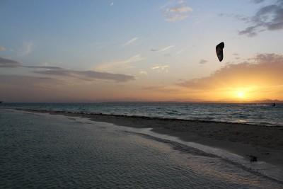 Picture from NKE's kite surfing safari Noveber 2018 sunset