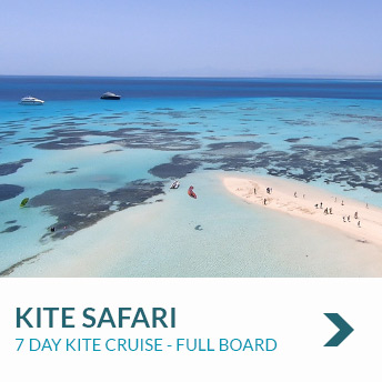 Visit beautiful blue islands of the red sea on a 7 day Kite Safari with nomad Kite Events in El Gouna, Egypt.
