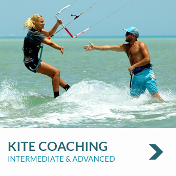Individual tailored kite coaching for intermediate and advanced Kitesurfers/kiteboarders with nomad Kite Events in El Gouna, Egypt.