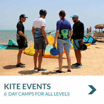 6 Day Kite Event / Kite Camp with Nomad Kite Events. For Beginner, Intermediate and Advanced Kitesurfers.